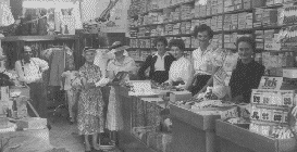 nterior of Mallick's Shop, Blayney, c1955