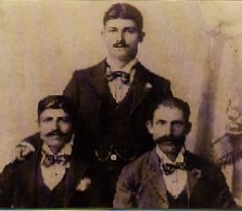 Charles, Albert & John Moses at Gundillion, c1900.