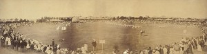 Albert Cricket Ground, Redfern.  Bounded by  Morehead,  Kettle, Curtis, Walker, Bilston , Alderson , Elizabeth and Phillips Streets, 1877. (SRC19815  Sydney City Archies). Some of the ealiest Lebanese settlers camped  on this ground  before authorities  evicted  them.